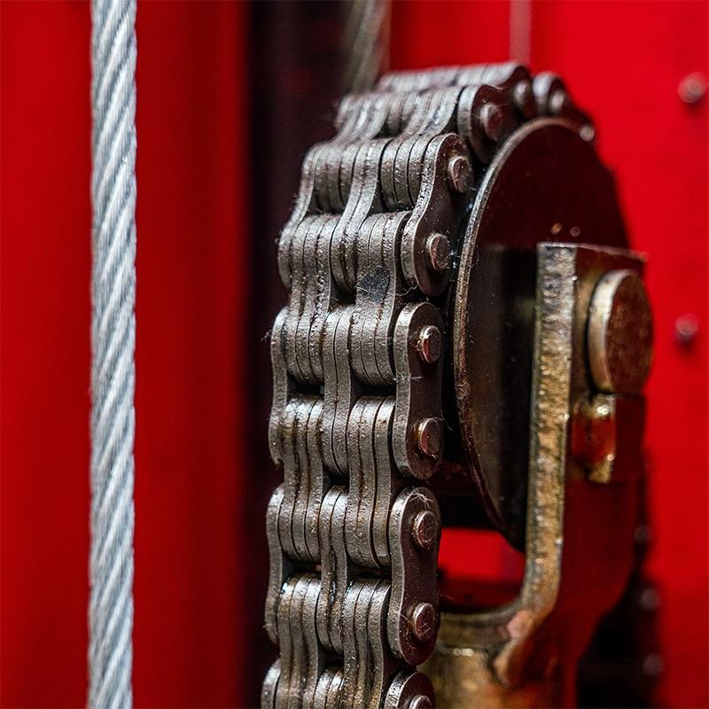 Hefbrug reparatie close up
